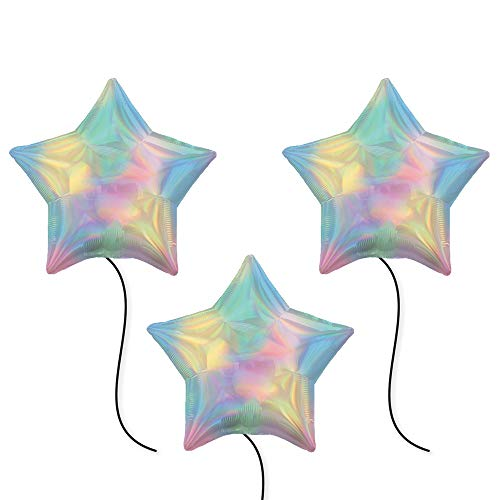 (BirthdayExpress Iridescent Pastel Rainbow Star Party Supplies 19