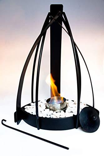 Chimenea de Etanol Ecológica Olimpo Metal con Acero Inoxidable