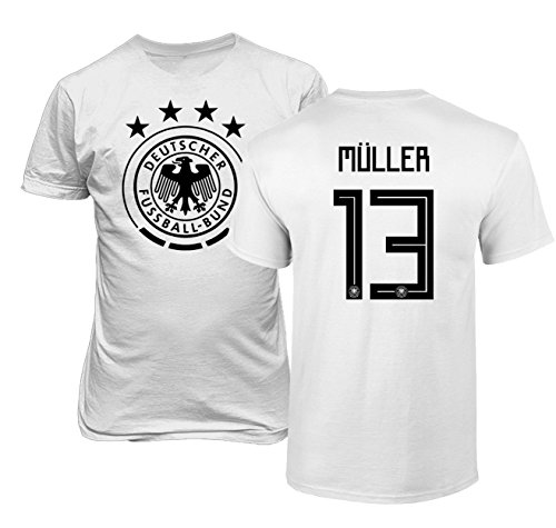 National Soccer Championships - Tcamp Germany 2018 National Soccer #13 Thomas MULLER World Championship Boys Girls Youth T-Shirt (White, Youth Large)