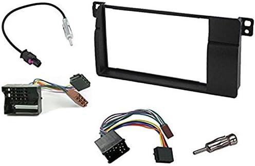 Sound Way 2 Din Autoradio Radioblende Radiorahmen Iso Verbindungskabel Antennenadapter Schlüssel Kompatibel Mit Bmw 3 Series E46 E36 Auto