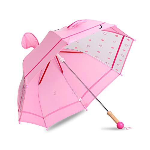 Betty Paraguas Infantiles, Primer Cristal Transparente para Ventana, Ojos 3D, Paraguas de Lluvia para niños para niños y niñas, portátil liviano (Color ...