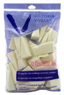 Victoria Vogue Cosmetic Wedges Latex Regular Size 32 Count (3 Pack) by Victoria's Secret