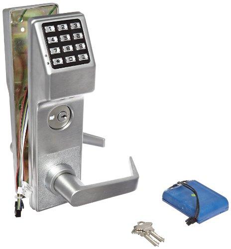 Alarm Lock Stainless Steel Trilogy T3 300-User Weatherproof Electronic Digital Keypad Classroom Mortise Lock Leverset, Left Hand, Straight Lever Classroom Function, Satin Chrome Finish (Classroom Brass Lock)