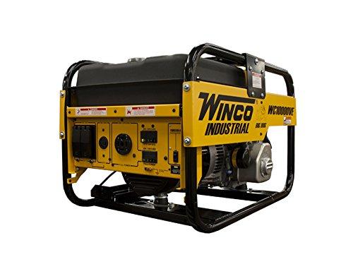 Winco WC10000VE Industrial Portable Generator, 10,500W Ma...