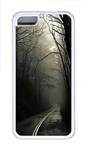 Dark Road Forest Custom iPhone 5C Case Cover TPU White