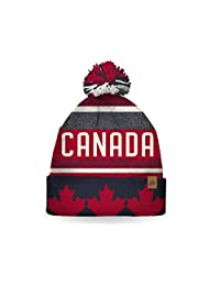 SPORTICUS Men's Canada Strong and Free Pom Pom Hat/Beanie