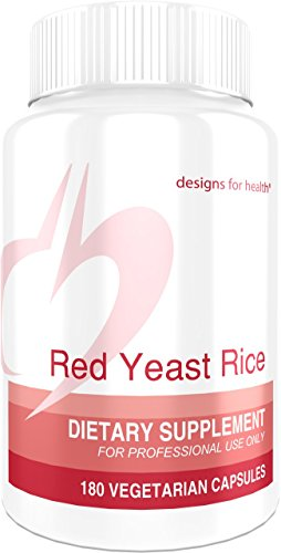 Designs for Health Organic Red Yeast Rice 1200 Milligrams Capsules - Certified Organic RYR + Citrinin-Free (180 Capsules)