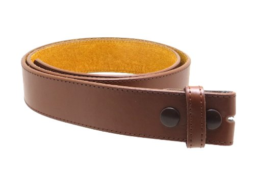 Leather Belt Strap with Smooth Style and Stitching 1.5
