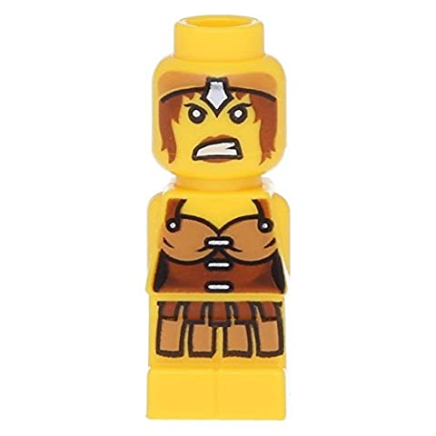 LEGO Microfig Champion Female Yellow Warrior (very small) - x1 Loose - Sand Mad Cat