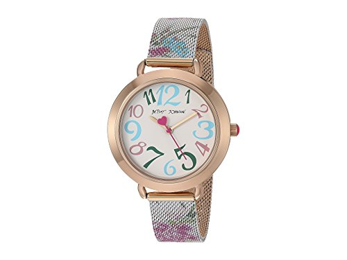 Betsey Johnson Women's BJ00688-03 Pink Floral One Size (Betsey Johnson Watch Bracelet)