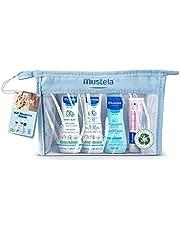 Kit Minis Mustela Bebê e Criança (Água de Limpeza + Hydra Bebê + Gel Lavante + Creme Vitaminado Preventivo de Assaduras) Edição limitada, Tamanho prático para levar para qualquer lugar, Mustela Bebê