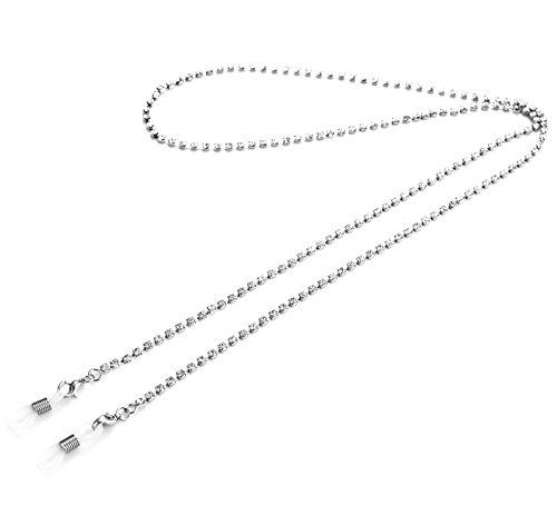 Kalevel Crystal Eyeglass Holder Chain Anti Slip Glasses Strap Sunglass - Necklace Sunglass