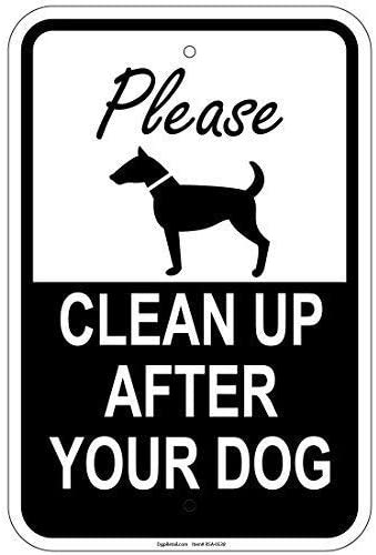 TammieLove Please Clean Up After Your Dog Aluminum Signs Metal Sign 8x12 inches