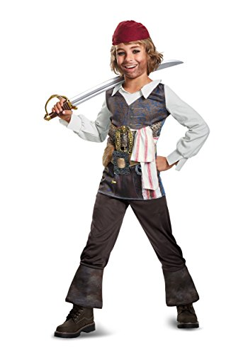 Disguise POTC5 Captain Jack Sparrow Classic Costume,