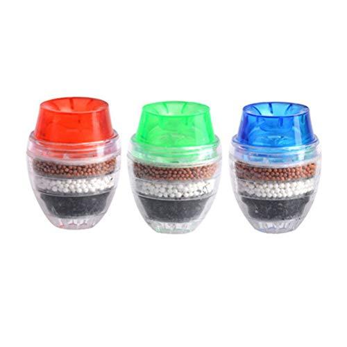 BESTONZON 3 unids Purificador de agua activado cartucho de carbon grifo filtro limpiador y purificador (Color aleatorio)