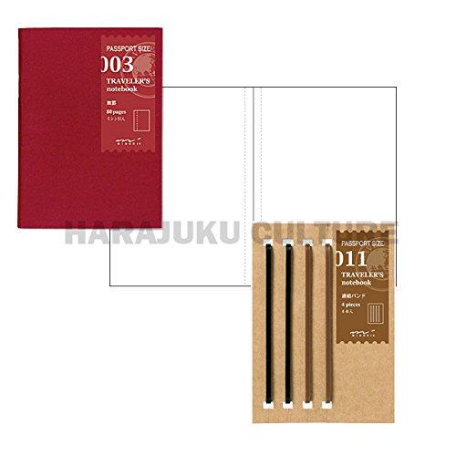Midori Traveler's Notebook Passport Size Refill Set - No003,No011 - 2pc (Harajuku Culture Japan Only)