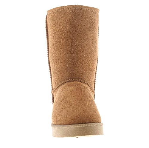 9 Length UK Calf Kisses Bootssoft Plush Chestnut Sizes Microfibre Womens 3 Chestnut Ladies Lining OqwCXwx16n