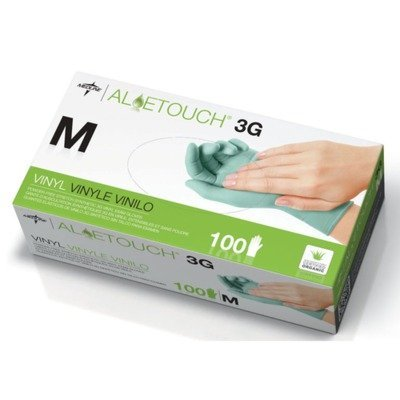 Aloetouch 3G Powder-Free Latex-Free Synthetic Exam Gloves, Large (100 Each / box) by Medline
