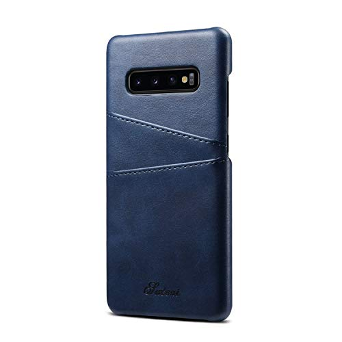 Samsung Galaxy S10 Cover Leather,Slim Fit Case Protective Brown Back Credit Card Holder Men Women Boy Shell