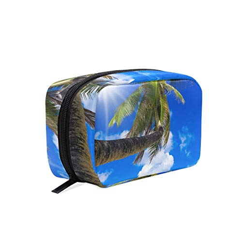 Makeup Bag Cosmetic Pouch Clutch Sunny Coast Palm View