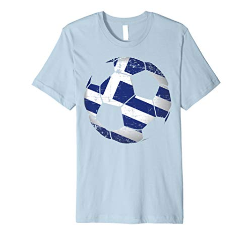 Greece Soccer Ball Flag Jersey Shirt - Greek Football Gift