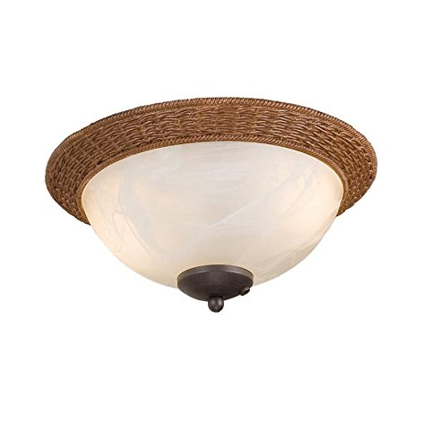- Harbor Breeze 2-Light Aged bronze Incandescent Ceiling Fan Light Kit with Alabaster Glass/Shade
