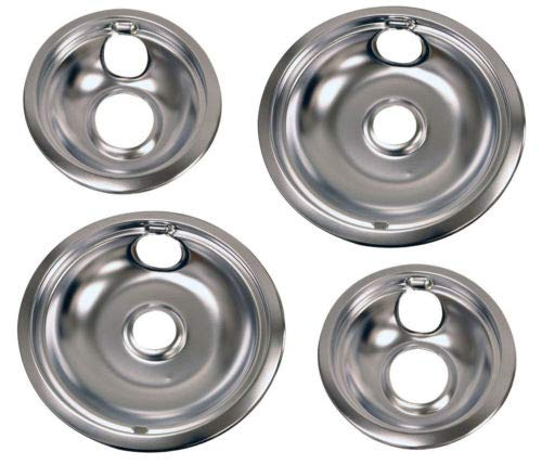 Appizz) New Frigidaire Kenmore Electrolux Drip Pan (Set 2pc-6'' and 2pc-8'')