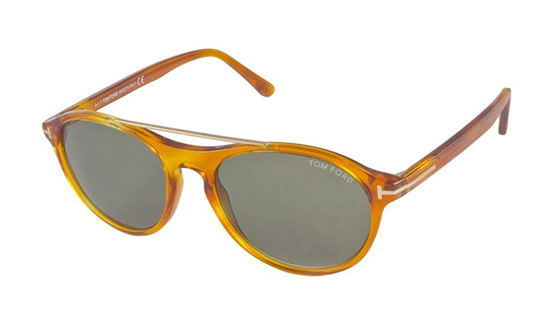 8cd4ee76b2fd7 Amazon.com  Tom Ford FT0556 53N Cameron Blonde Havana Aviator Sunglasses  for Mens  Clothing