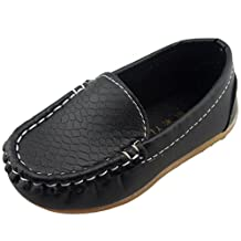 DADAWEN Children's Girls'Boys' Slip-on soft Loafers Oxford Shoes