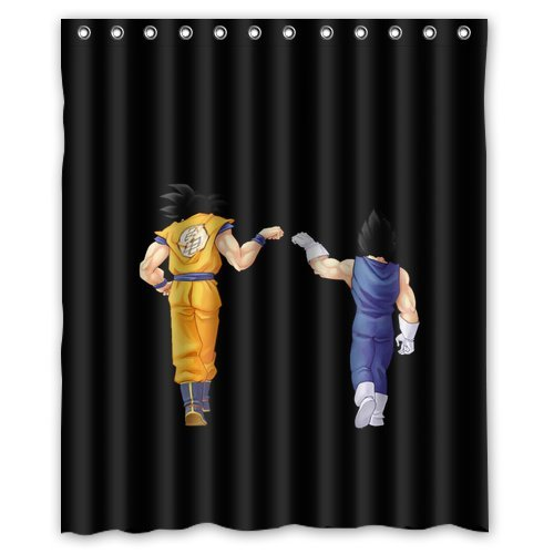 Fashion press Flawless Gorgeous Creative Dragon Ball Z Shower Retro Curtain Shower 100% WaterProof Polyester Fabric 60