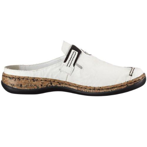 Rieker 46393-80 - Zuecos para mujer Blanco