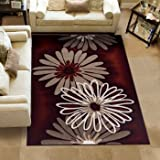 Segma Dahlia Area Rug - Machine Woven Polypropylene, 100% Olefin, Heat Set with Dyed, Stain, Soil and Fade Resistant Yarn Colors (Length - 3.25 m, Width - 2.34 m)