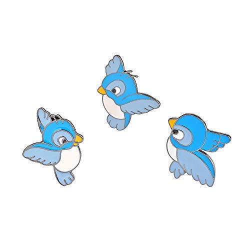 Little Bird Pin - GaFree Women Girls Kids Cute Enamel Lapel Pin Set Cartoon Brooch Pin Badges for Clothes Bags Backpacks (3 Bird Set)