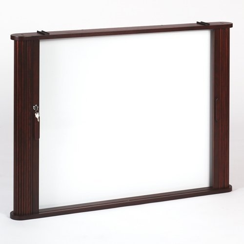 Best-Rite Tambour Door Enclosed Cabinet, Mahogany 28060