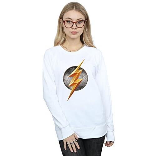 DC Comic Femme Justice League Movie Flash Emblem Sweat-Shirt