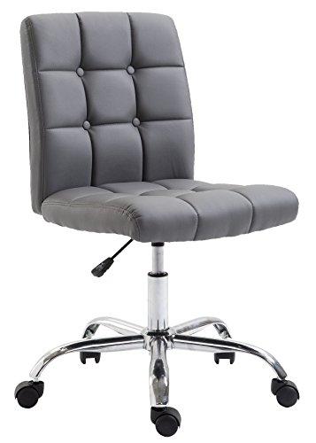 POLY & BARK  Aria Task Chair in Vegan Leather, Grey