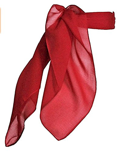 TC 50s Shop Vintage Style Sheer Chiffon Neck Purse Costume Scarf - Red