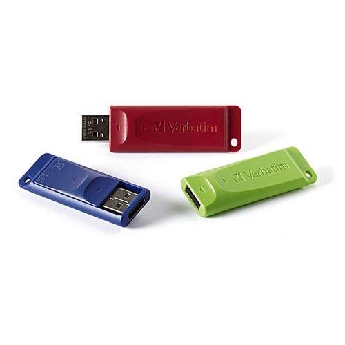 Verbatim Store 'n' Go USB Flash Drive, 8GB, Pack of 3 (Capacity Drive)