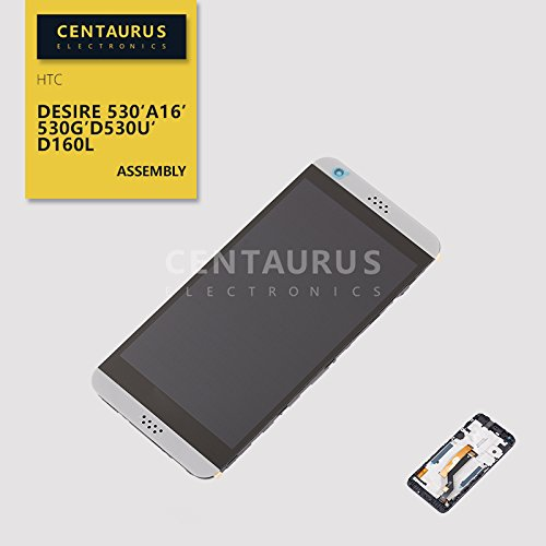 for HTC A16 Desire 530 530g D530u D160L 5 LCD Replacement Display Touch Screen Digitizer Lens Frame Grey