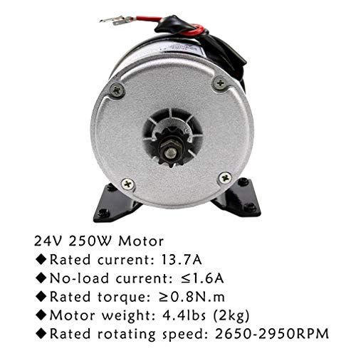 SHOPUS | ZXTDR 24V 250W Brushed Motor for Electric Go Kart Scooter E