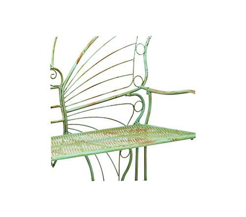 (Wood & Style Patio Outdoor Garden Premium Whimsical Verdi Butterfly Metal Bench)