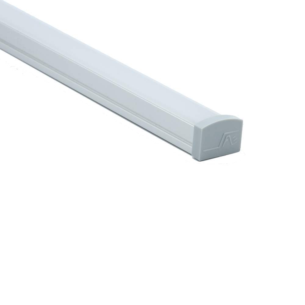 LEDPROFILES 5-Pack 4ft LED Profile Extrusion Upto 16mm//0.63 Wide LED Strip 1.2Meter Spotless LED Aluminum Channel with Clear Arc Diffuser 1961 Series End Caps and Mounting Accessories