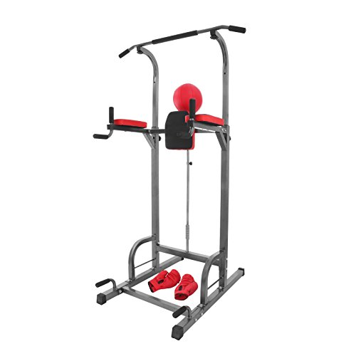 Summile 330LBS Pull Up Dip Station Power Tower Station Multi Station Power...