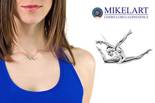 Bijoux gymnaste, pendentif de gymnastique artistique, Breloque du gymnastique où la vitesse, la puissance et le courage engendrent la liberté du corps