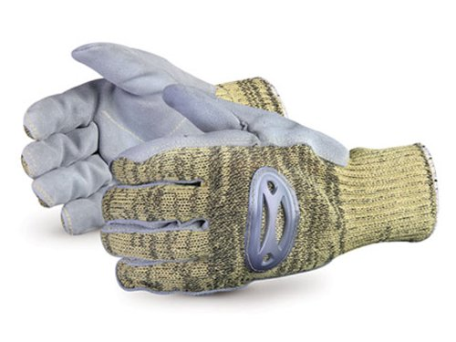 le Play Kevlar/Wire-Core Glove with Steel-Mesh Lined and Leather Palm, Work, Cut Resistant, Medium (Pack of 1 Pair) (Steel Palms Leather)