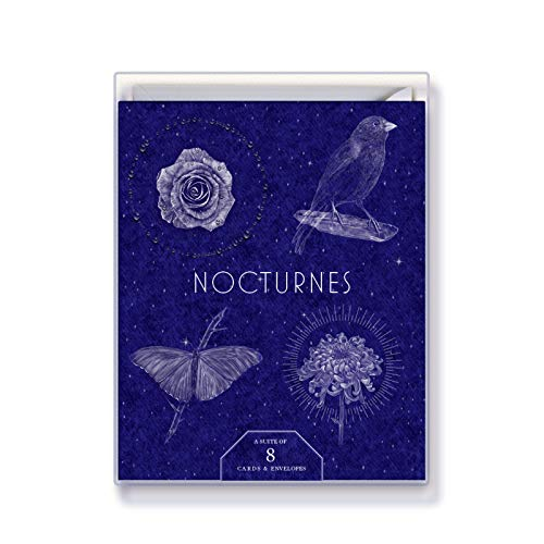 Greeting Card Box of 8 Cards - NOCTURNES - Vertical Fold Cards