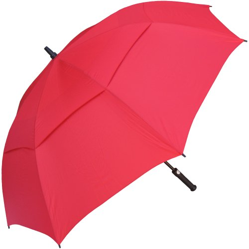 (RainStoppers 60-Inch Auto Windbuster Golf Umbrella, Red)