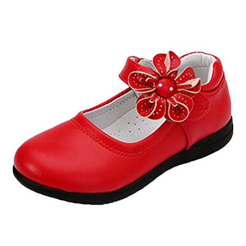 Sandalette Ohmais Sandaletten Rot flach Ballerinas Mädchen Kinder Kleinkinder Mädchen Sandalen Freizeit Halbschuhe zgrzTXq