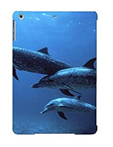 Bdsvxy-7018-lqcecpp Tough Ipad Air Case Cover/ Case For Ipad Air(animal Dolphin) / New Year's Day's Gift