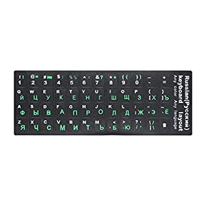 Stickers Russian & English Non Transparent Keyboard Replacement Sticker Universal for Laptop
